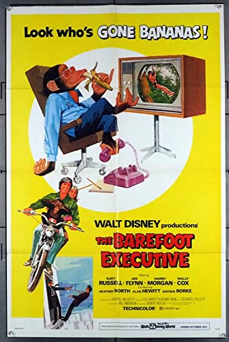 Image result for the barefoot executive movie poster