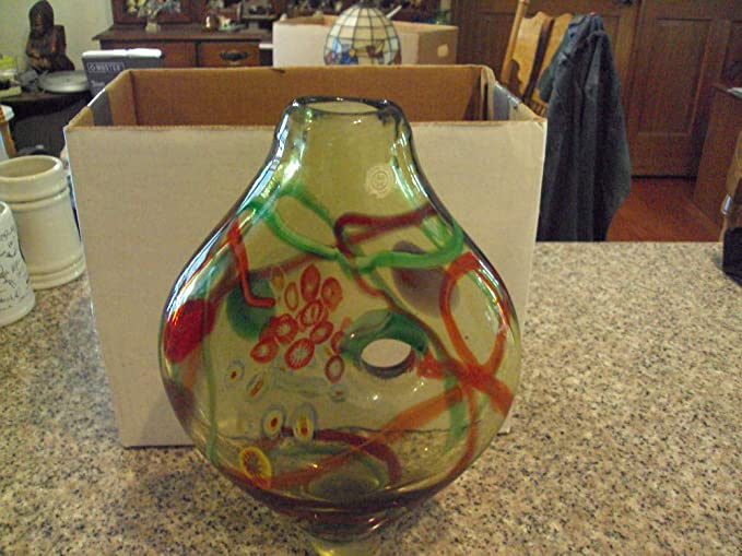 Large Stunning Art Glass Vase By Sds Seapoot Group American Design