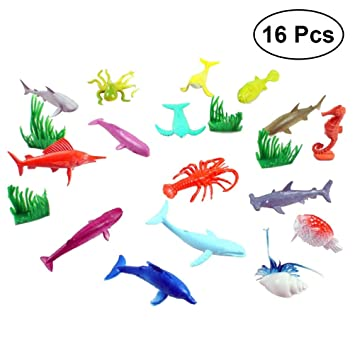 24pcs Plastic Small Ocean Animal Model Figures Kids Funny Educational Toys