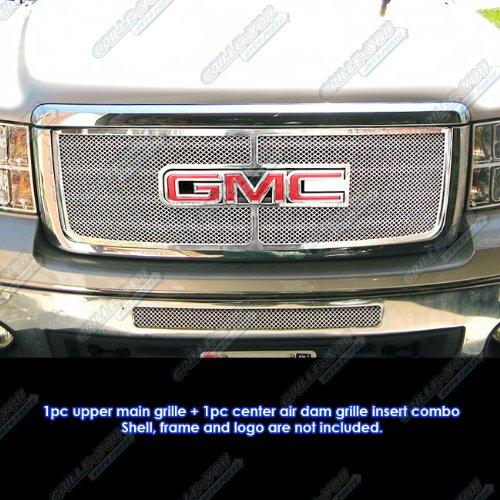 APS Fits 2007-2013 GMC Sierra 1500/07-10 Sierra Denali Stainless Steel Grille Grill Combo # G71141T