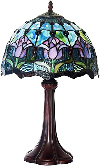 CCSUN Mini Lámpara de la cabecera Estilo tiffany Lámparas de mesa ...