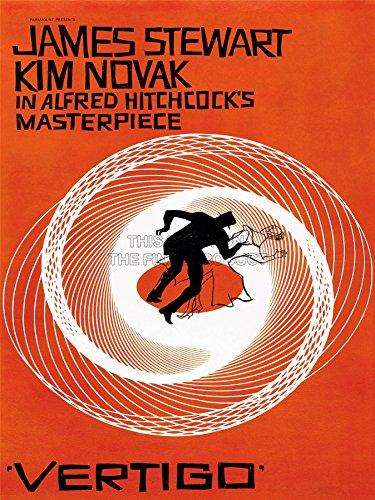 MOVIE FILM VERTIGO 1958 SAUL BASS JAMES STEWART ALFRED HITCHCOCK PRINT 18x24 INCH LV2237
