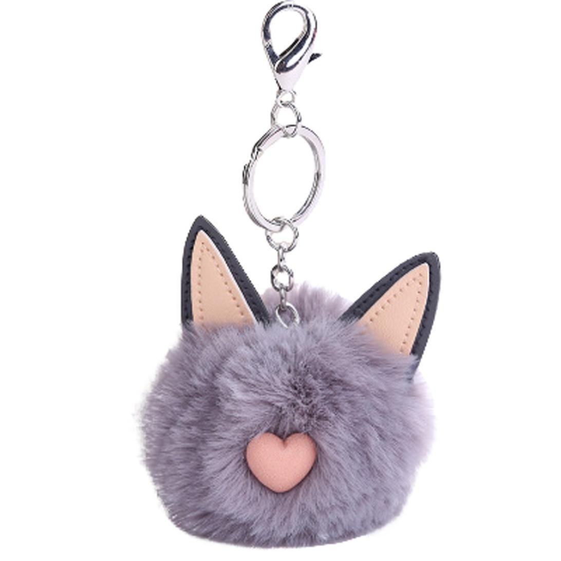Porte-clés de Oreilles de Chat Mignon, Internet Femme Fille Boule de ... dc8e3f205913