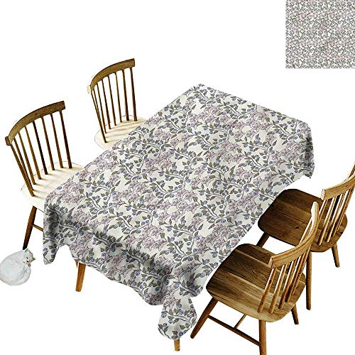 - Sillgt Resistant Table Cover Flower Pastel Toned Blueberries High-end Durable Creative Home 60