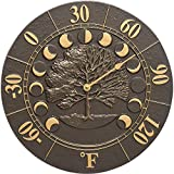 Seasons and Times Outdoor Thermometer French Bronze