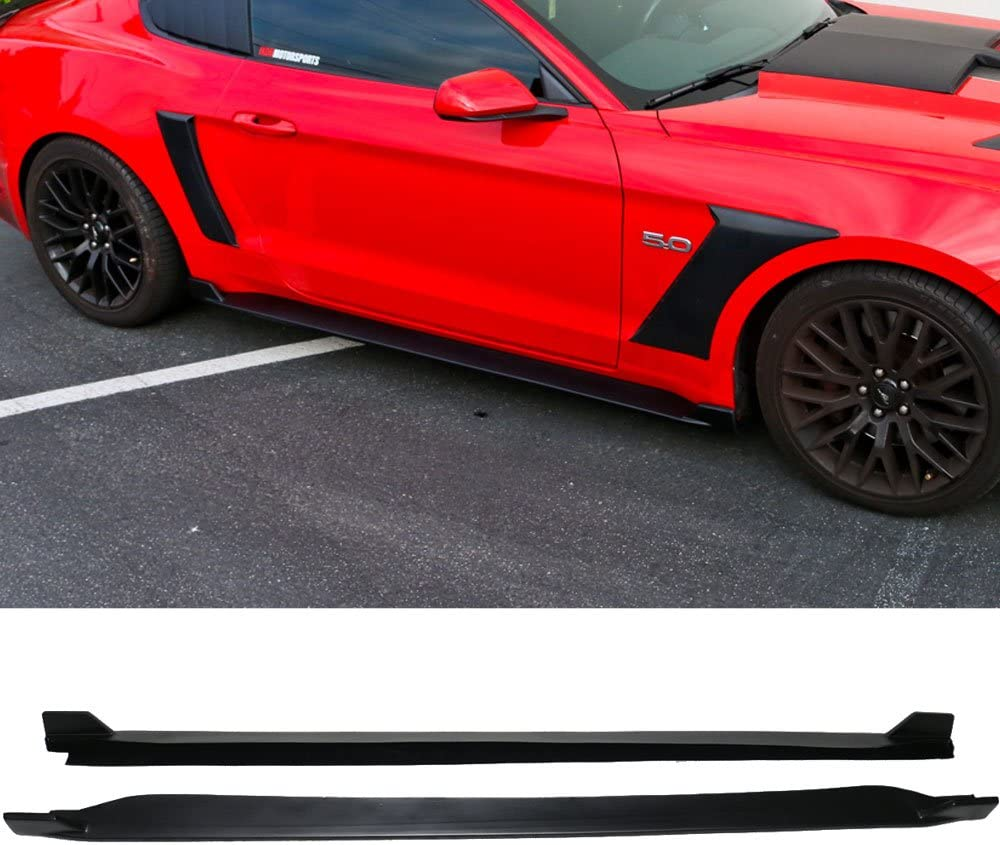 Front Bumper Lip Compatible With 2018-2019 Ford Mustang GT Style Chin Spoiler Splitter Valance Black PP by IKONMOTORSPORTS