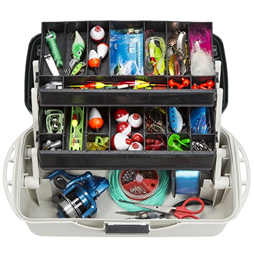 Wakeman Outdoors Fishing Tackle Box Craft Tool Chest and Art Supply Organizer - 14 Inch