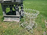 36''t x 30''w Wrought Iron Basket Cart - Plant Stand - Pot Holder