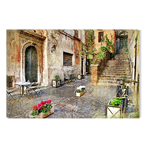 Startonight Canvas Wall Art Italian City Decor, Dual View Surprise Artwork Modern Framed Ready to Hang Wall Art 100% Original Art Painting 23.62 X 35.43 inch by Startonight