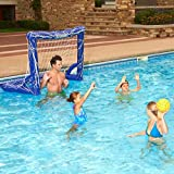 Pool Games for Kids Adults Toys Water Polo Set Swimming Goal Net Ball Inflatable Floating Outdoor Fun Playset
