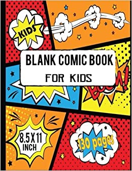 amazon com blank comic book for kids create your own cartoon and