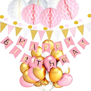 Amazon.com: Cratone Birthday Decorations Party Supplies Set ...