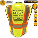 KwikSafety PILOT | Drone Safety Vest | Class 2 ANSI Compliant FAA Licensed | 360° High Visibility Reflective UAG Work Wear | Hi Vis Certified Commercial Pilot Men & Women Regular to Oversized | 2XL