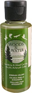 product image for Badger Air-Brush Co. 4-Ounce Woods and Water Airbrush Ready Water Based Acrylic Paint, Olive Green