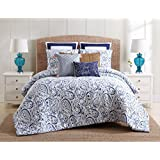 3 Piece Watercolor Paisley Pattern Duvet Cover Set Full Queen Size, All Over Abstract Floral Design