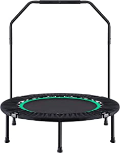 Ludosport Foldable Trampoline Rebounder 40 Inch Fitness Trampoline for Kids Adults Workout Max Load 300 lbs Rebounder Jumping