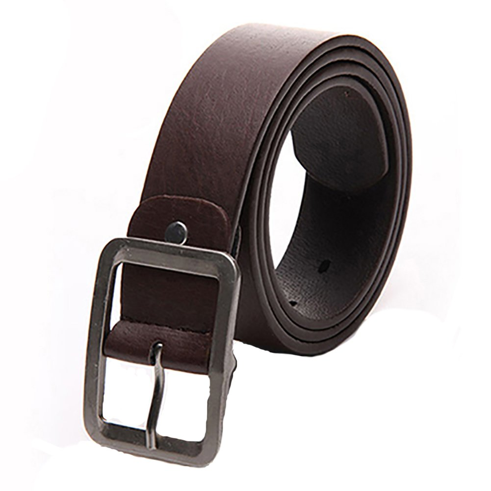 Academyus Mens Fashion Leather Buckle Waist Business Casual Dress Belts