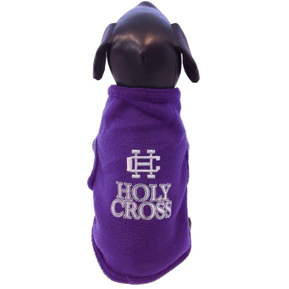 NCAA Holy Cross Crusaders Sleeveless Polar Fleece Dog Sweatshirt