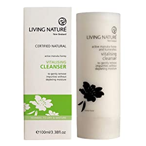 Living Nature Certified Natural Vitalising Facial Cleanser for Dry Skin - 100 ml / 3.38 oz