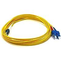 Monoprice LC/SC, 5 m - Cable de Fibra óptica (5 m, 5 m, LC, SC, Male Connector/Male Connector, Amarillo)