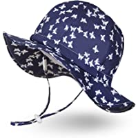 Ami&Li Baby Sun Hat Infant Sun Protection Hat UPF 50 Breathable Cotton Cute Infant Toddler Cap for Summer Bucket Hat