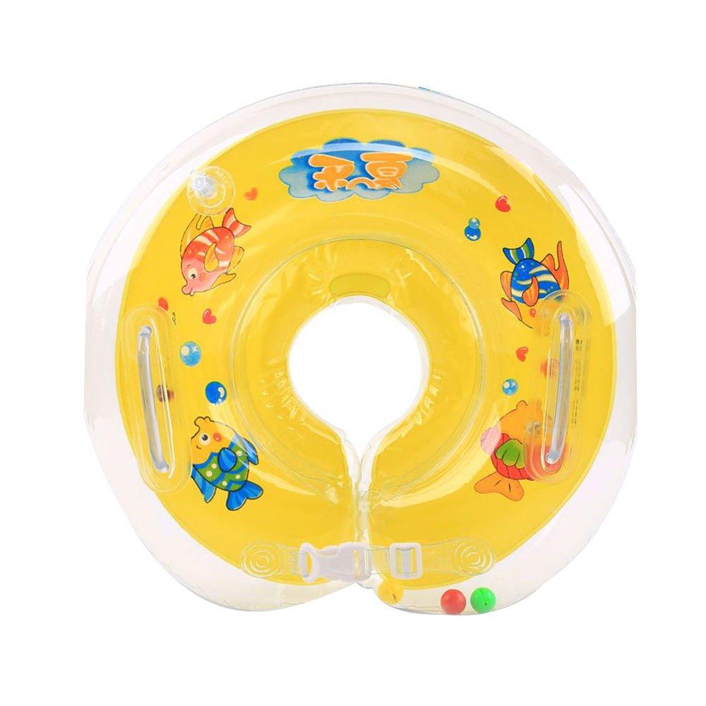 GZQ Natación Flotador Inflable Anillo, Anillo Seguridad de natación del bebé, Inflable de Piscina Nadar, flotador engrosada ajustable de cuello para bebes ...