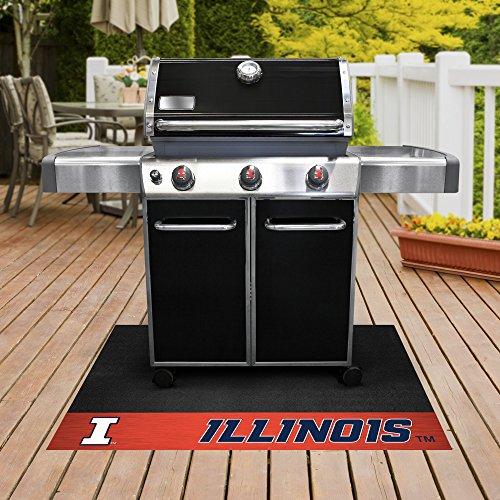 - FANMATS NCAA University of Illinois Fighting Illini Vinyl Grill Mat