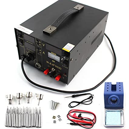 Estación de soldadura 3 en 1 853D LCD Digital Desoldador de aire caliente SMD Rework Station