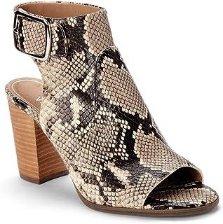 c3abcc6ee84a Vionic Women s Perk Blakely Open Toe Slingback Heel – Ladies Peep Toe  Booties Concealed Orthotic Support