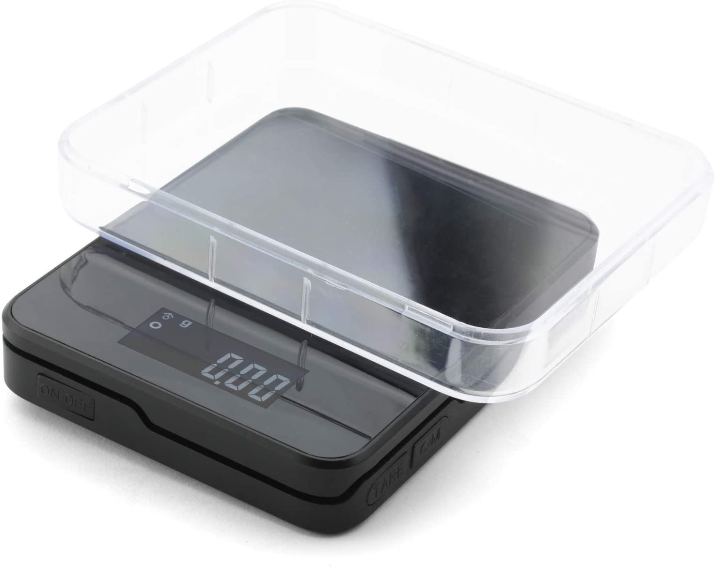 Truweigh - STORM Digital Mini Scale - (200g x 0.01g - Black) and Long Lasting Portable Grams Scale - Kitchen Scale - Food Scale - Postal Scale - Herb Scale - Meal Prep Scale