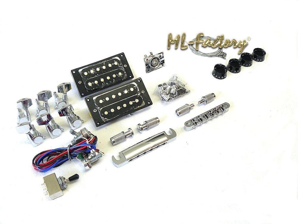 Semi II Hollowbody Flamed Top Custom Mahogany//Caoba Guitarra El/éctrica//Guitar DIY Kit ML-Factory/® PR