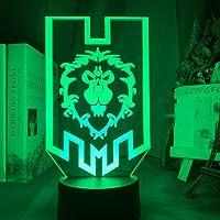 3D Illusion Lamp World Of Warcraft Alliance Vlag Led Nachtlampje Voor Room Decor 16 Kleur Veranderende Uniek Voor spelrs…
