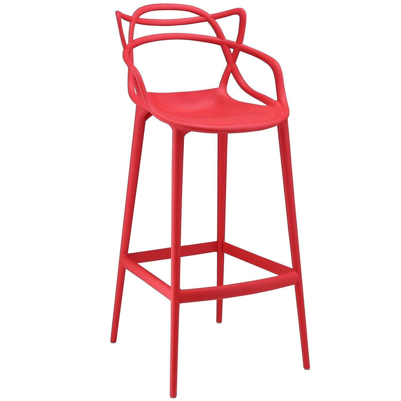 Phenomenal Amazon Com Molded Plastic Bar Stool With Foot Caps Short Links Chair Design For Home Short Linksinfo