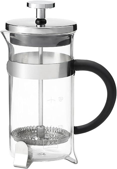 Melitta Premium Cafetera Prensa Francesa para 3 tazas, vidrio, 350 ml, Negro, Acero inoxidable, Transparente: Amazon.es: Hogar