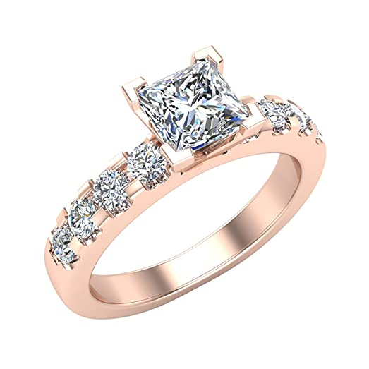 1 25 ct tw Classic Diamond Accented Solitaire Engagement Ring 14K