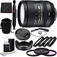 Nikon AF-S DX NIKKOR 16-85mm f/3.5-5.6G ED VR Lens + 72mm 3 Piece Filter Set (UV, CPL, FL) + 72mm +1 +2 +4 +10 Close-Up Macro Filter Set with Pouch + Lens Cap + Lens Hood + Lens Cleaning Pen Bundle