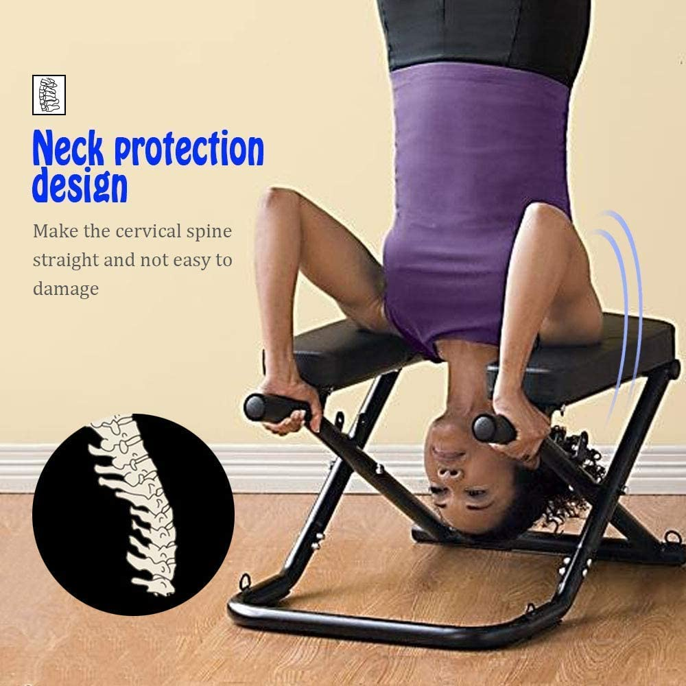 Semper Yoga Headstand Bench Inversion Chair, Handstand Trainer, Shoulderstand Head Stand for Beginner and Experience Yogis – Relieve Fatigue and Build Up Body