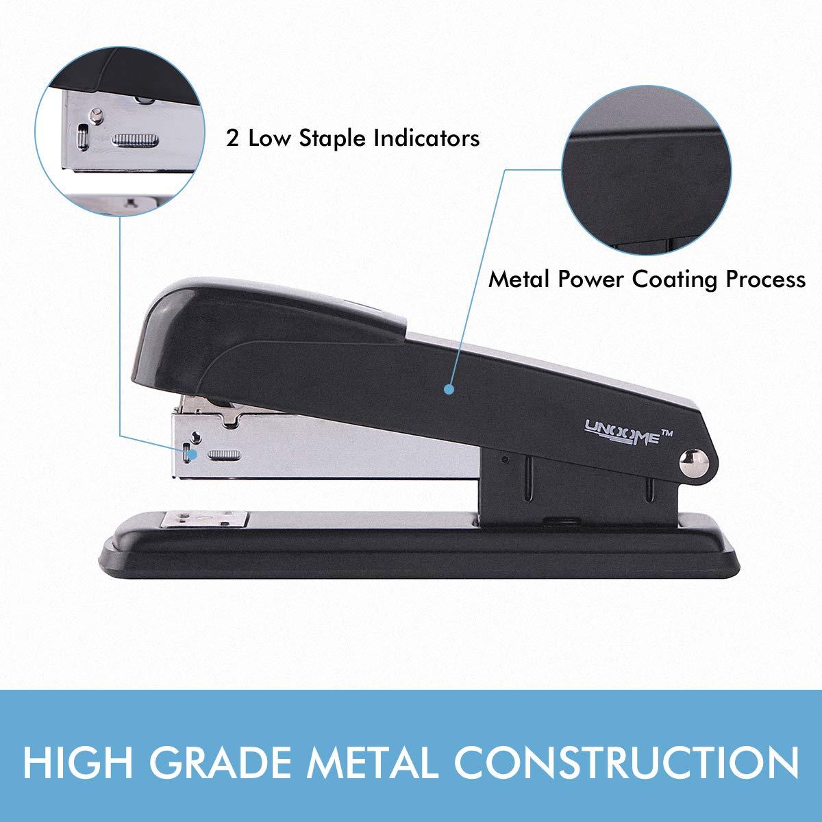 Premium Metal Standard Stapler UNOOME Classic Stapler with 3000 ...