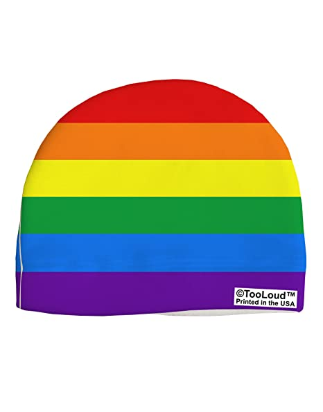 622819c277 Amazon.com: TOOLOUD Rainbow Horizontal Gay Pride Flag Child Fleece Beanie  Cap Hat All Over Print: Clothing