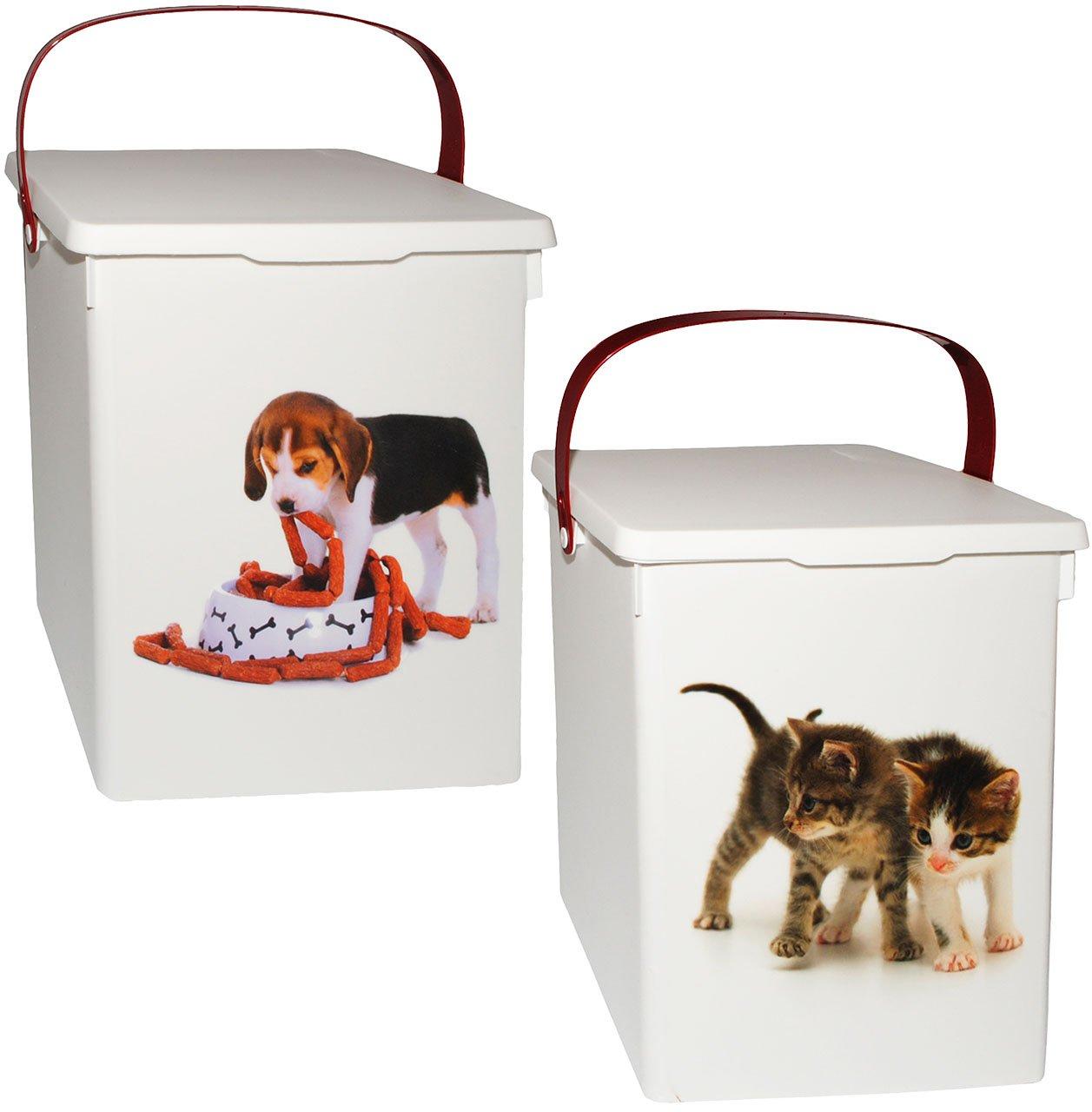 alles-meine.de GmbH 1 Stück _ Futterbox / Futterdose - Süße Haustiere - für Tierfutter - Katze..