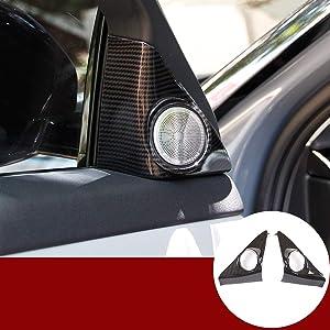 Carbon Fiber Style for Land Rover Range Rover Evoque L551 2019 2020 Car Accessories Tweeters Speaker Cover Trim Sticker