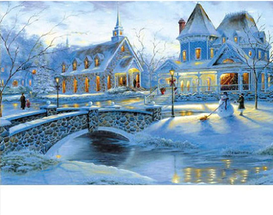 1000 Piece Jigsaw Puzzle Winter Snow Landscape Jigsaw Puzzles Large Puzzle Micro-Sized Puzzles Painting Jigsaw Puzzle