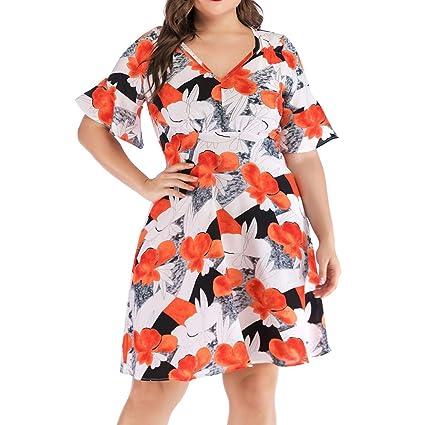 Amazon.com: UEANRFA Plus Size Church Dresses for Women ...