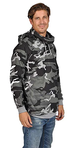 Amazon.com: arsnl Mens Moda Color Sólido sudadera con ...