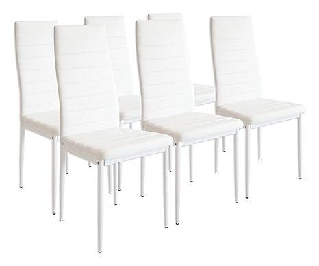 Albatros milano set di sedie da pranzo bianco amazon