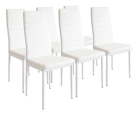 227 opinioni per Albatros 2699 MILANO- Set di 6 sedie da pranzo, bianco