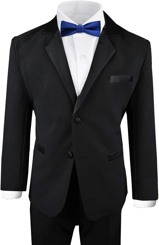 Black n Bianco Boys Modern Tuxedo Dresswear Set