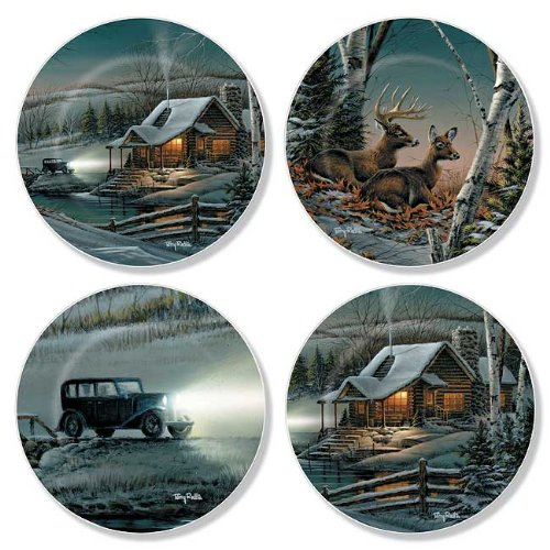 Winter Cabin Mini Collector Plates by Terry Redlin
