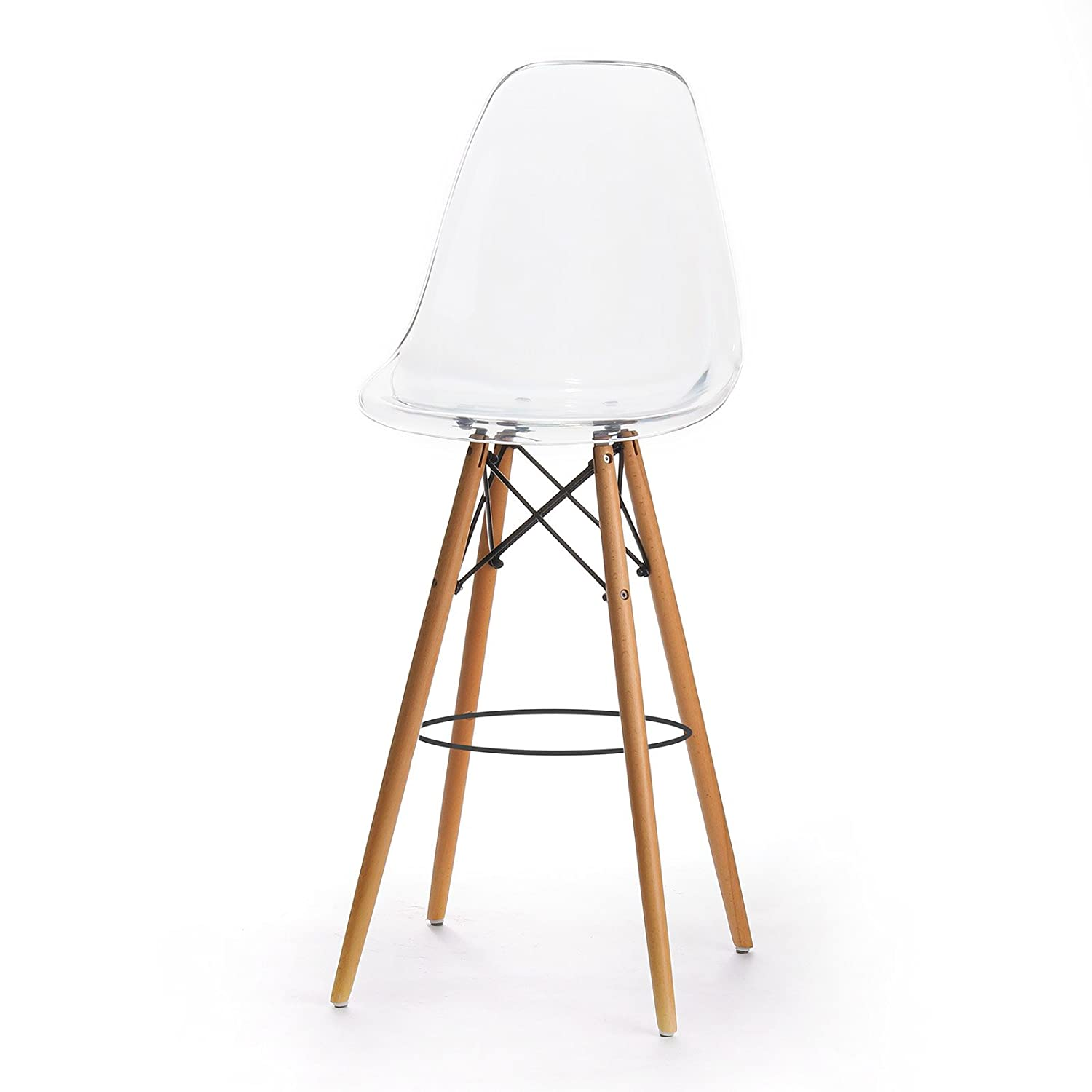 Etonnant Amazon.com: Design Tree Home Charles Eames Style DSW Bar Stool, Clear  Acrylic: Kitchen U0026 Dining