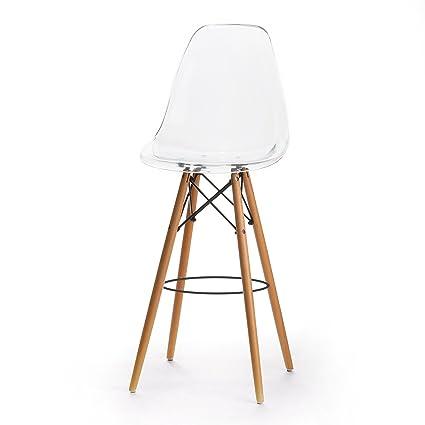 amazon com design tree home charles eames style dsw bar stool